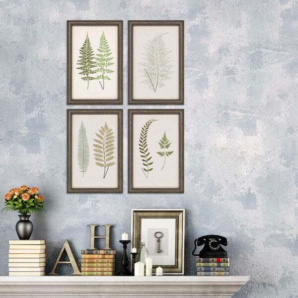 Fern Study I Green Framed Art, Set of Four, image 1
