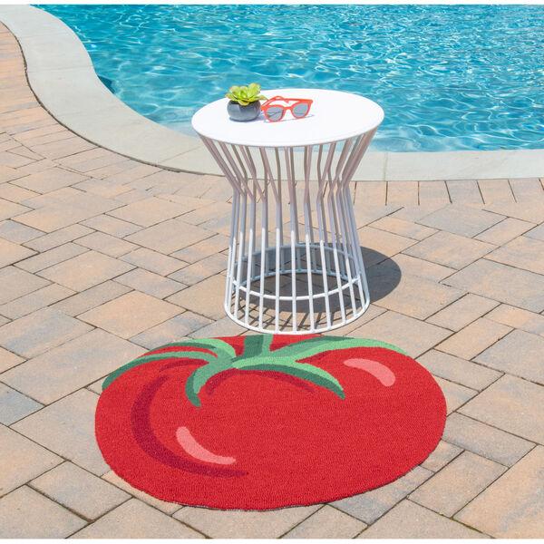 Cucina Red Rectangular: 2 Ft. 6 In. x 2 Ft. 9 In. Rug, image 2