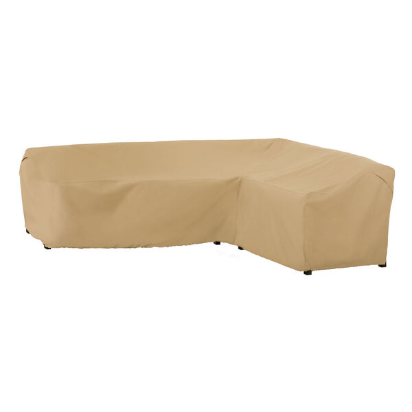 Palm Sand Patio Right Facing Sectional Lounge Set Cover, image 1
