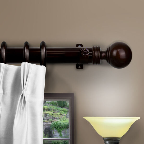 Cocoa 84-Inch Sphere Decorative Traverese Rod with Ring, image 2