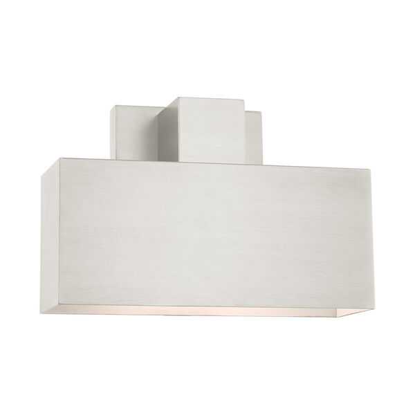 Lynx Brushed Nickel Nine-Inch One-Light Outdoor ADA Wall Sconce, image 3