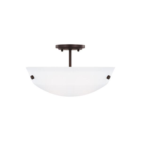 Kerrville Bronze Two-Light Semi-Flush Convertible Pendant, image 1