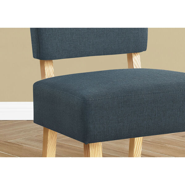 Blue and Natural Armless Chair, image 3