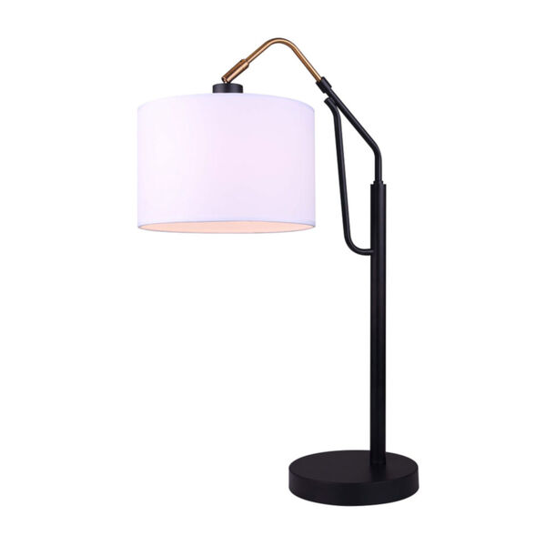 Winston Black and Gold One-Light Table Lamp, image 1