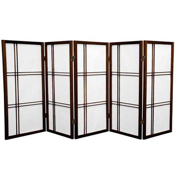 Three Ft. Tall Double Cross Shoji Screen, Width - 87.5 Inches, image 1