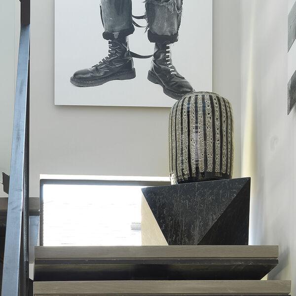 Barnaby Beige and Black Vase, image 3