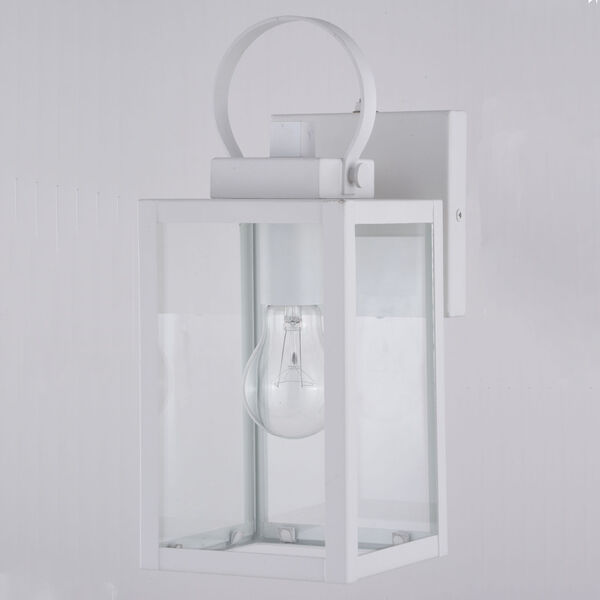 Medinah Textured White Five-Inch One-Light Outdoor Wall Sconce, image 2