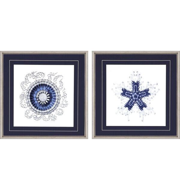 Navy Gems II Blue Framed Art, Set of Two, image 2