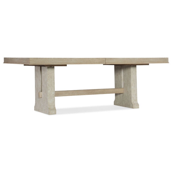 Cascade Taupe Rectangle Dining Table with One 22-Inch Leaf, image 1