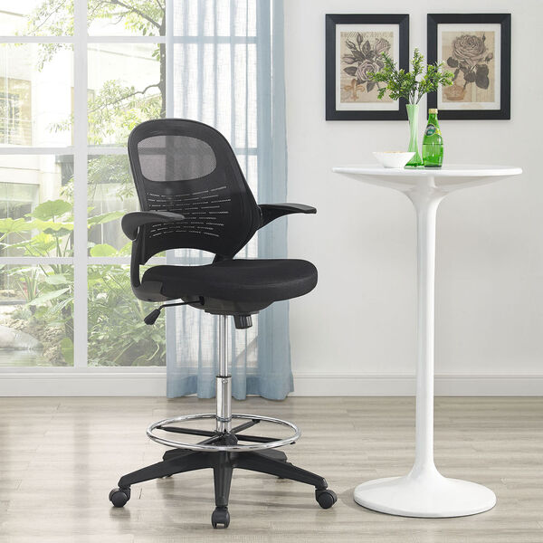 Advance Drafting Stool in Black, image 1
