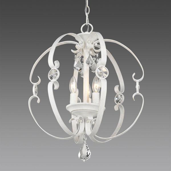 Ella French White Three-Light Chandelier, image 2