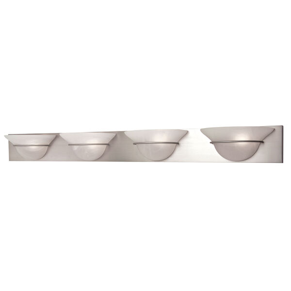 Moonglow Brushed Nickel Four-Light Bath Fixture, image 1