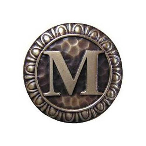 Antique Brass 'M' Knob , image 1