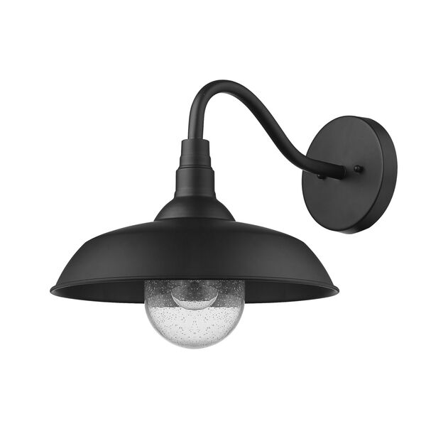 Burry Matte Black 14-Inch One-Light Outdoor Wall Sconce, image 1