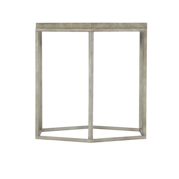 Glazed Silver and Brown Loft Gresham Hexagonal End Table, image 3