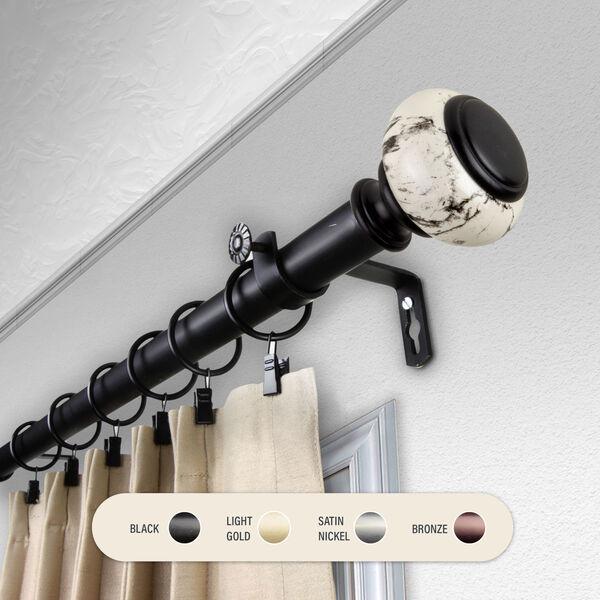 Kelly Black 48-84 Inch Curtain Rod, image 1