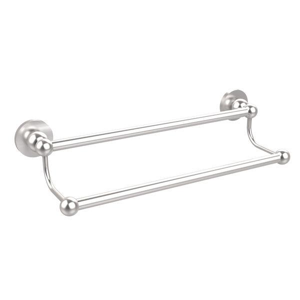 Satin Chrome 24 Inch Double Towel Bar, image 1