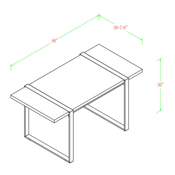 Urban Blend Gray and Black Dining Table, image 6