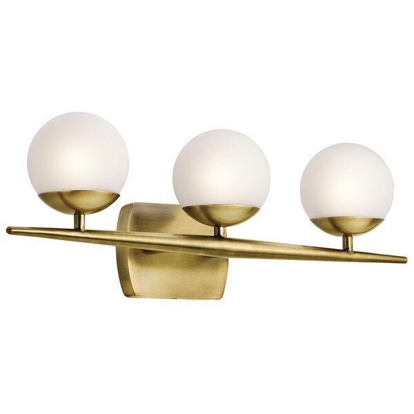 Jasper Natural Brass Three-Light Bath Sconce, image 1