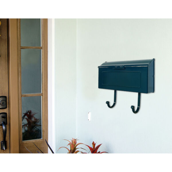Nash Blue Horizontal Mailbox, image 5