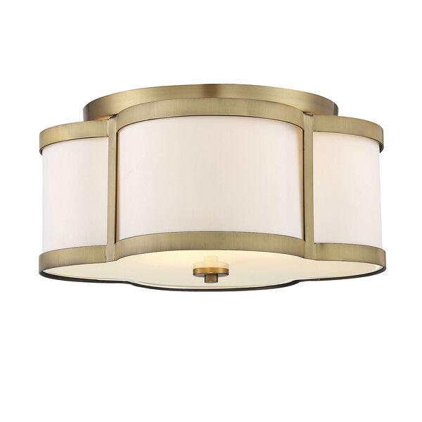 Lacey Warm Brass Three-Light Semi Flush, image 1