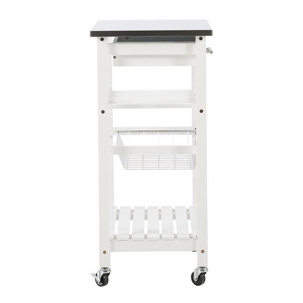 Autumn White Kitchen Cart, image 3