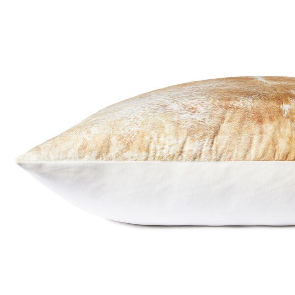 Beige and White 36-Inch x 36-Inch Floor Pillow, image 2