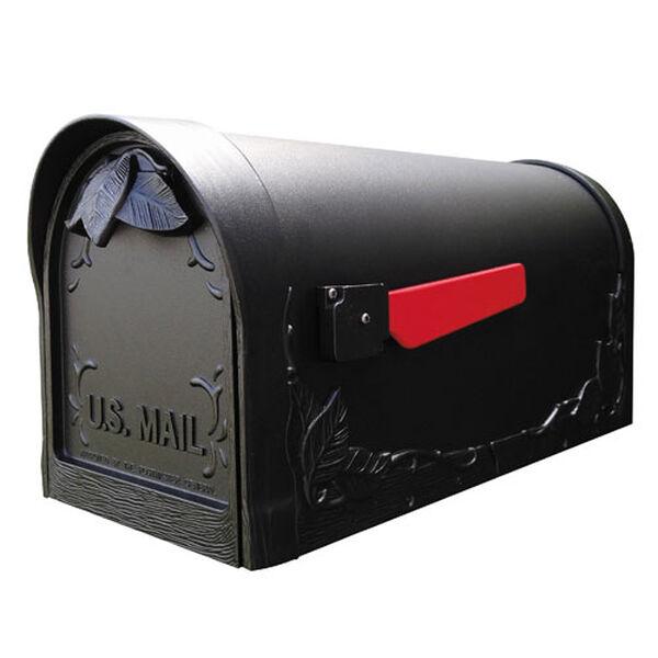 Floral Black Curbside Mailbox, image 1