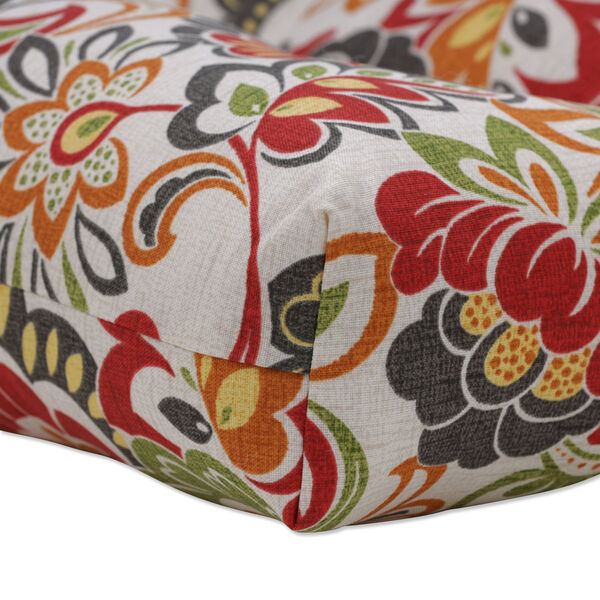 Zoe Green Red 48-Inch Bench Cushion, image 3
