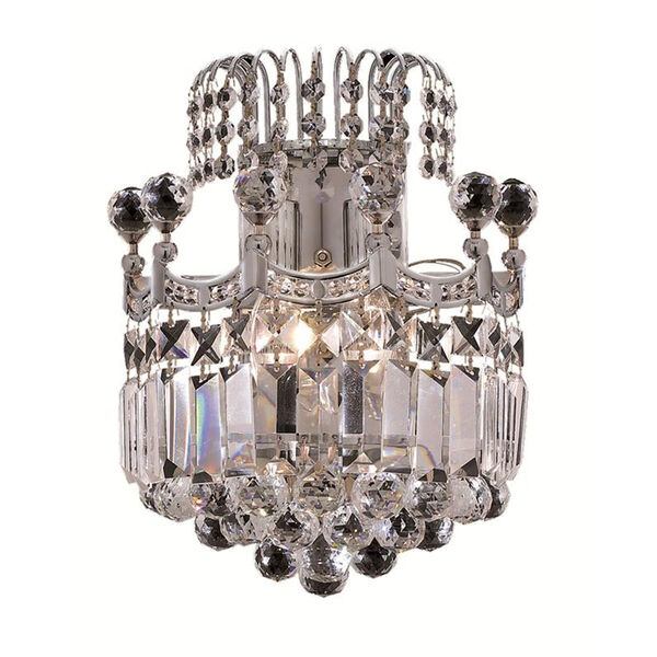 Corona Chrome 12-Inch Two-Light Wall Sconce with Elegant Cut Crystal, image 1