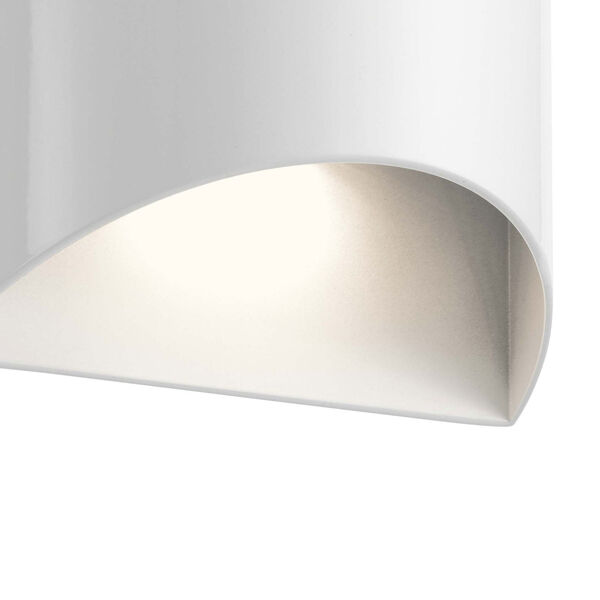 Wesley White LED Outdoor Wall Sconce, image 2