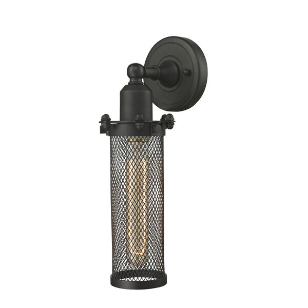 Austere Oil Rubbed Bronze Five-Inch One-Light Wall Sconce with Quincy Hall Oil Rubbed Bronze Metal Shade, image 1