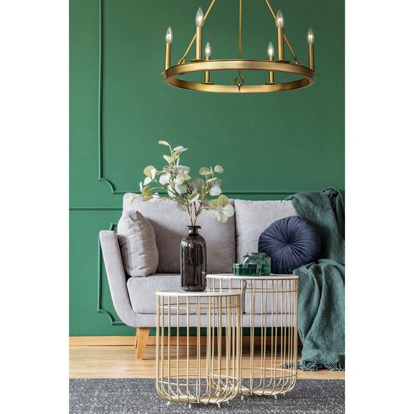 Barclay Olde Brass Six-Light Chandelier, image 2