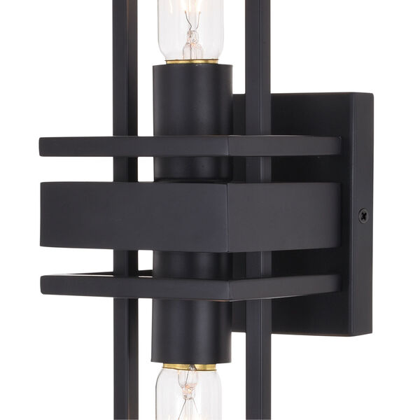 Marquis Matte Black Two-Light Wall Sconce, image 2