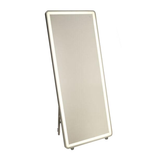 Reflections Brushed Aluminum LED Floor Mirror, image 1