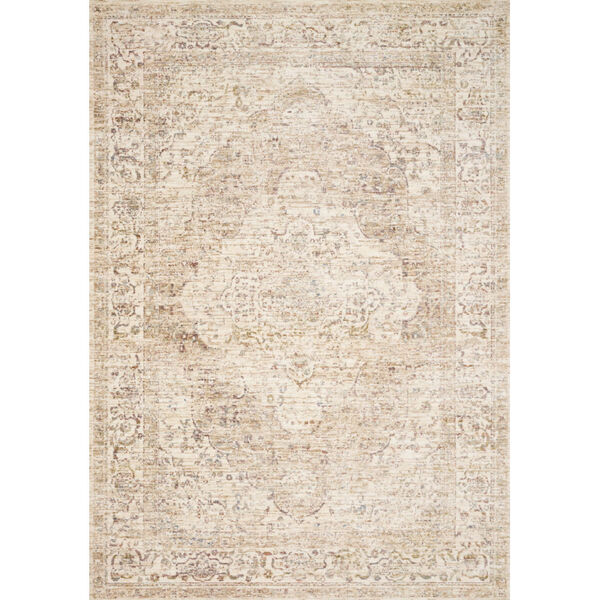 Revere Ivory with Berry Round: 7 Ft. 1 x 7 Ft. 1 Rug, image 1