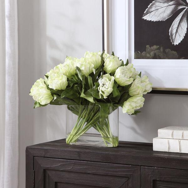 Kimbry White Tulip Centerpiece, image 2