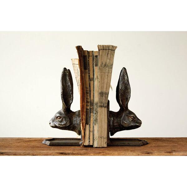 Metal Rabbit Head Bookends, image 1