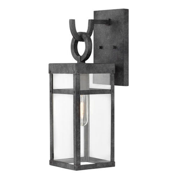 Porter Aged Zinc One-Light 19-Inch Outdoor Wall Mount, image 1