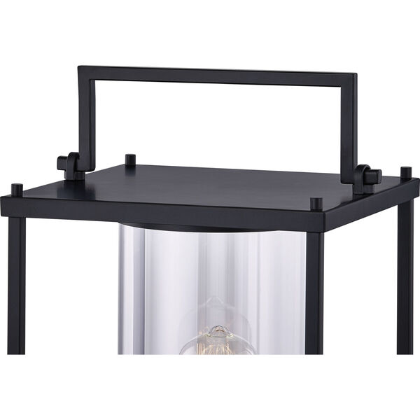Garrett Matte Black One-Light Outdoor Post Lantern with Transparent Glass, image 4