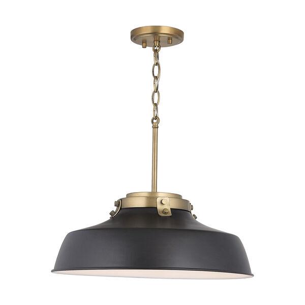 Oakwood Matte Black One-Light Pendant, image 6
