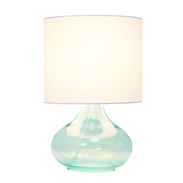 Cerise Aqua White One-Light Raindrop Table Lamp, image 2
