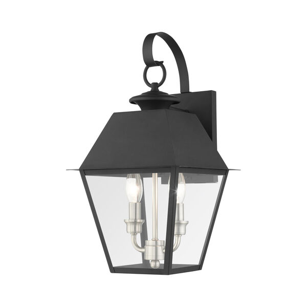 Mansfield Black Two-Light Outdoor Wall Lantern, image 1