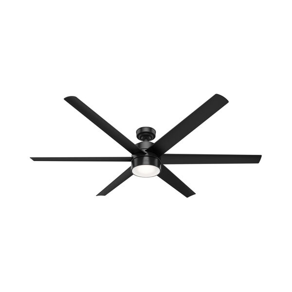 Solaria Matte Black LED 72-Inch Outdoor Ceiling Fan, image 1