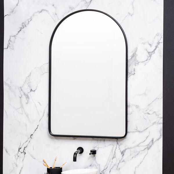 Sebastian Black 38-Inch Arched Wall Mirror, image 5
