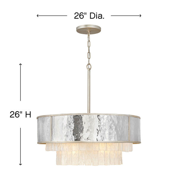 Reverie Champagne Gold 26-Inch Eight-Light Chandelier, image 4