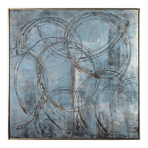 Interlock Blue Modern Art, image 2