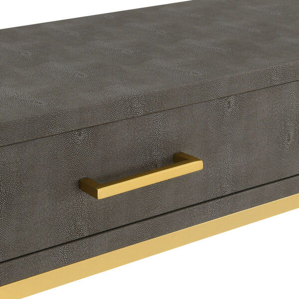 Gray and Gold 18-Inch Ashley Coffee Table, image 6
