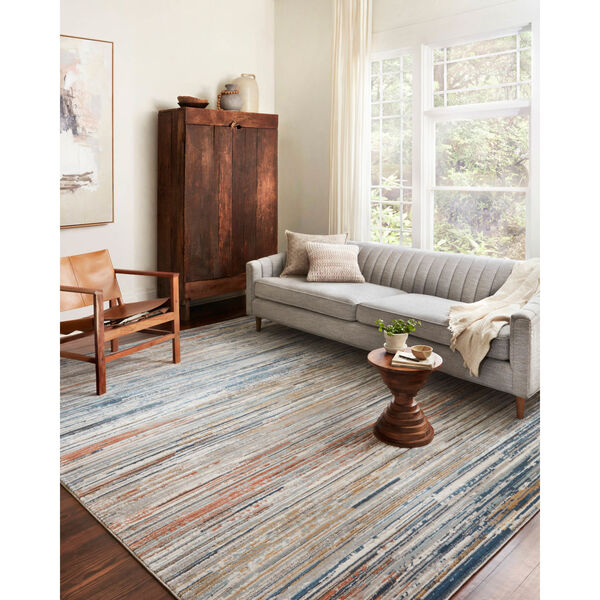 Bianca Pebble, Spice and Blue 2 Ft. 8 In. x 13 Ft. Area Rug, image 2