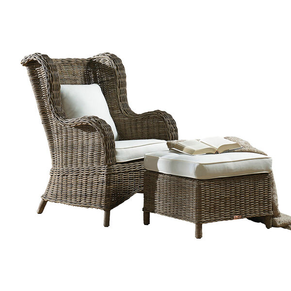 Exuma Two-Piece Occasional Chair with Ottoman, image 1